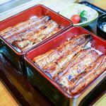 う奈ぎ道場 - ■鰻重 ハーフ&ハーフ 4300円