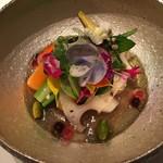 91984994 - 純銀、銀100%の花器に完全無農薬薬の炊いた野菜 炊き上げたコンソメのジュレ