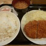 Tonkatsuhamaya - '18/09/02 ロースかつ定食(税込700円)