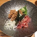 おぐ羅 - 「マグロ納豆」650円
