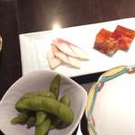 野田岩 - 先付と前菜セット