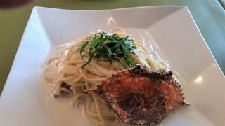 レストラン ビストロ - 渡り蟹のクリームパスタ。