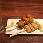 コバラカフェ - ちょい呑みプラン 680円 チキンティカ、鶏つくね