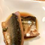 91998127 - 秋刀魚の煮付け、粒山椒の実