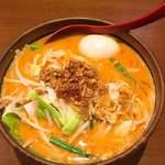 田所商店 - 料理写真:辛味噌野菜ラーメン 900円 煮卵はLINE登録でプレゼント♪