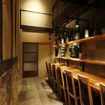 酒盃 いち膳 - 1階カウンター席