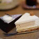 quatre epice - 料理写真:ガトーショコラとチーズケーキ