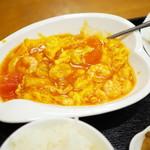 双龍居 - 小エビとトマトと玉子炒め