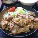 Kashiwaya - 豚肉生姜焼定食¥700 2018.7.18