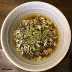 拉麺たいぢ - 鶏ごぼうのつけ汁
