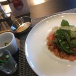 プティ ジャルダン - 季節野菜で3品と豚フィレのコートレット