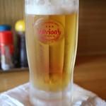 大衆浴場 足立屋 - ドリンク写真:千ベロセットのオリオンビール