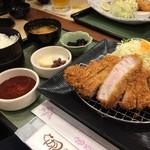 Tonkatsukewaike - H.30.8.9.昼 国産ロースとんかつ膳(厚切り200g) 1,530円税込