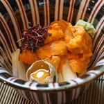 和食 小ぐり - 生雲丹と山芋