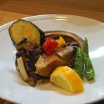 和食 小ぐり - アワビのステーキ 焼き野菜