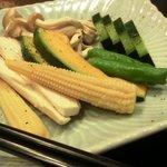 和牛厨 ふか尾 - 鉄板焼きの野菜