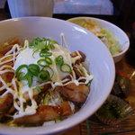 呑楽食堂ゆっき~ら - とりマヨ丼♪