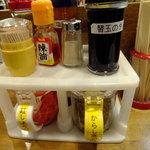 二十一代目 哲麺 - 薬味です