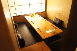 湘南の魚とワインの店 ヒラツカ - 今日は店内奥の個室に通されました☆