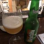LOCAL BAR 新栄EIGHT - ニュートン 毎回飲む青リンゴフレーバーのビール。甘ったるくなく、程よく甘いのが気に入っている♪フレーバーによって、ビール独特の苦みが得意でない私もおいしくいただけますっ!! 2018/09/01