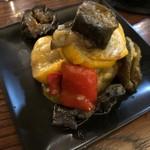 LOCAL BAR 新栄EIGHT - ナスとズッキーニのマリネ 野菜のみずみずしさが秀逸っ!!ひと口ほおばれば、まるでジュースのように水分が出てくる(^0^) 2018/09/01