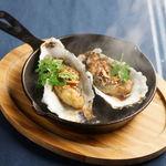 牡蠣の鉄板ステーキ 【ガーリック・バター醤油】