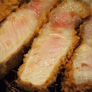 熟豚 - 料理写真:超特上リブロースかつ定食