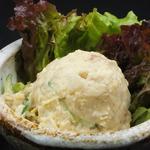 ポテトサラダと彩り野菜の道産たまねぎドレッシング