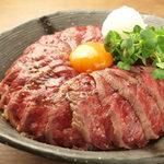 アンガス牛ステーキ丼