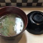 ワラジヤ - 味噌汁付きです