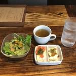 燻製バル SMOKE WORKS - ランチにつくスープ、サラダ、前菜
