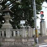 中村軒 - この交差点を左折すると、桂離宮です