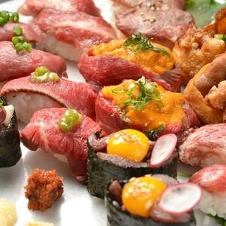 極上の絶品肉の寿司爛漫コース!