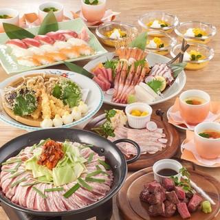 コース料理は2000円~。大人数のご宴会も大歓迎!!