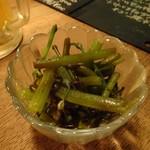 ZACRO - お通しは山菜のミズ