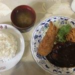 レストラン香港 - ハンバーグライス エビクリームコロッケ  750円
