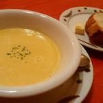 肴菜屋 赤こしょう - コースのスープとパン
