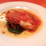 肴菜屋 赤こしょう - 鯛の柔らかさとトマトソースがいい感じ!