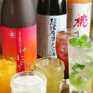 九州の焼酎・果実酒・ワインを多数、取り揃えてます!