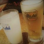 92054880 - 生ビール・カルピス酎ハイ