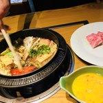 牛肉割烹 自雷也 - 料理写真:特選前沢牛すき焼き 前沢牛A5等級