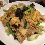 Keien - 玉子、野菜と豚肉炒め、アップ