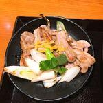 丸亀製麺 - ●鴨つけ汁うどん 740円(大) 別皿の鴨肉とおネギ