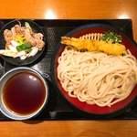 丸亀製麺 - ●鴨つけ汁うどん 740円(大) ●大海老天ぷら 290円