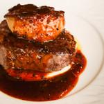黒毛和牛フィレ肉とフォアグラのロッシーニ