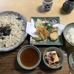 方六庵 - 料理写真:天ざるきしめん定食