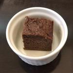 フローレット - ビーフカツレツ おまかせソース ¥950 に付くデザート
