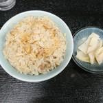 92077853 - 肉ご飯(小)セット