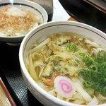 都きしめん - おかか定食(野菜天きしめん・おかかご飯)680円