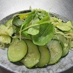 八森イソラ - 緑のパスタ(ズッキニーと野菜のスパゲティー